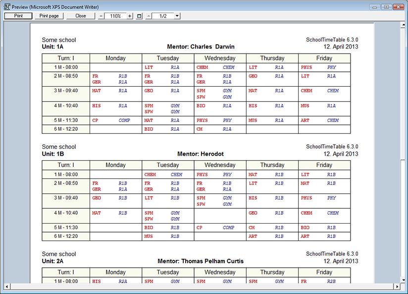timetables templates - Roberto.mattni.co